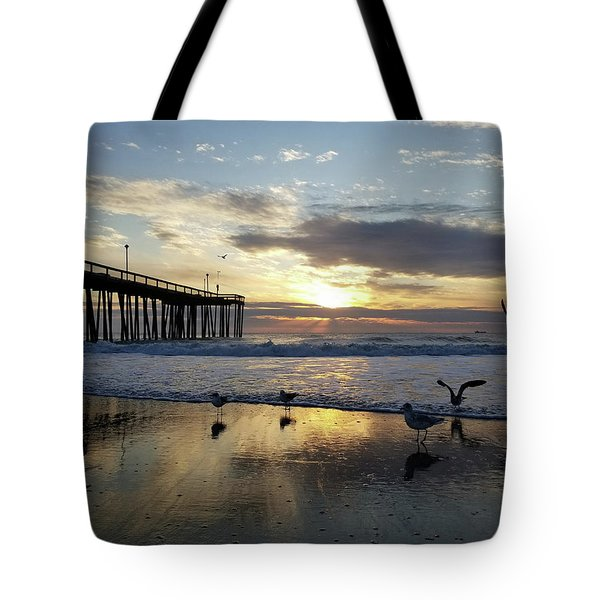 Seagulls And Salty Air Tote Bag