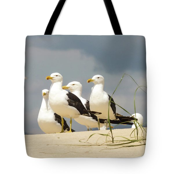 Seagulls At The Beach Tote Bag