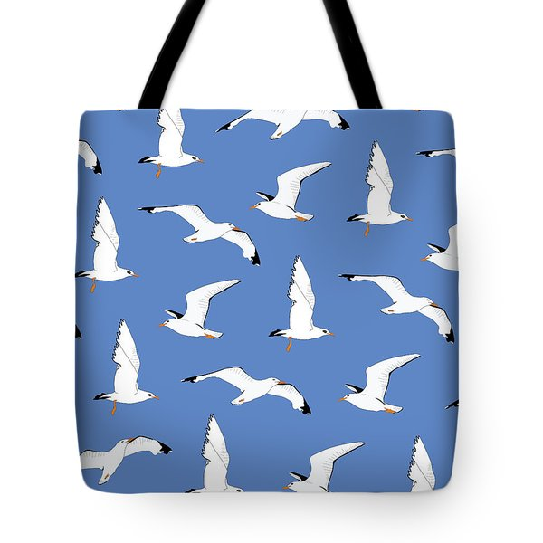 Seagulls Gathering At The Cricket Tote Bag by Elizabeth Tuck
