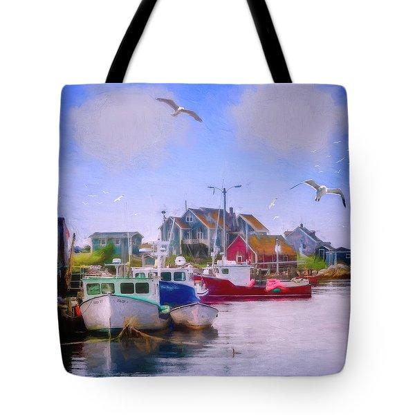 Seagulls Of Peggys Cove Tote Bag