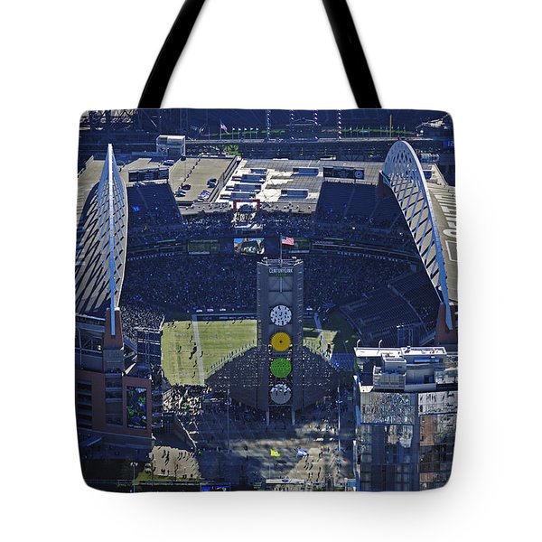 Seahawk Stadium Tote Bag