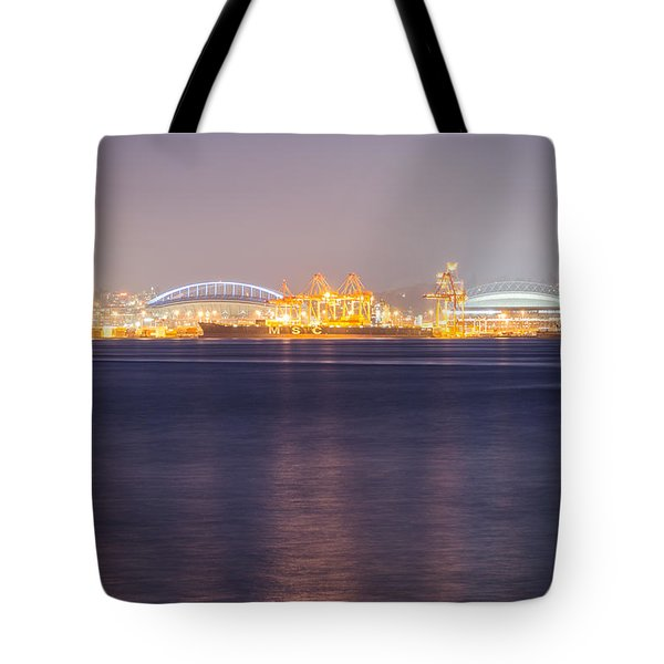 Seahawks And Mariners Stadiums Tote Bag