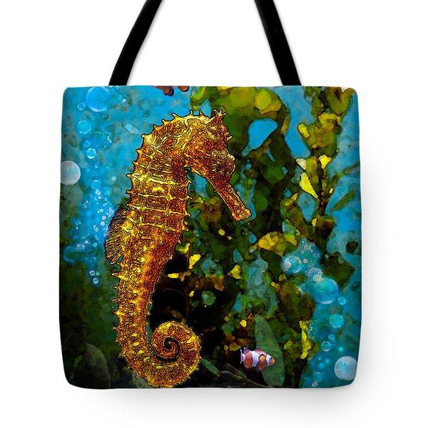 Seahorse And Clowns Tote Bag