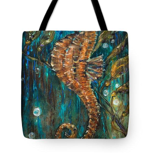 Seahorse And Kelp Tote Bag