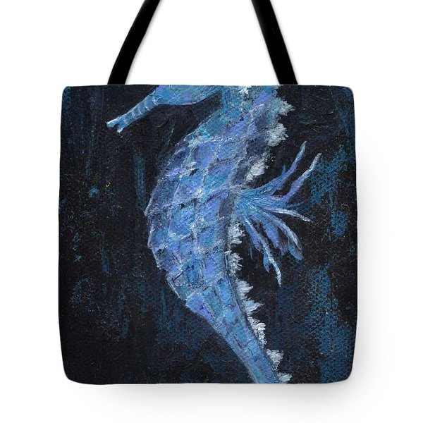 Tote Bag featuring the painting Seahorse by Jamie Frier