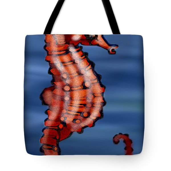 Seahorse Tote Bag by Kevin Middleton