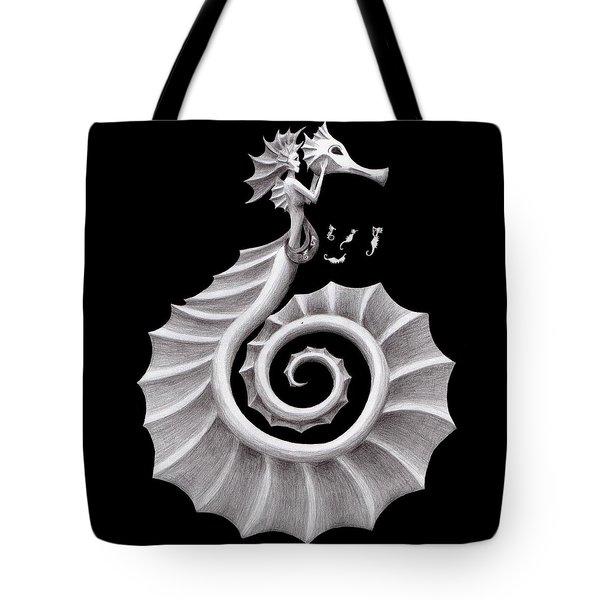 Seahorse Siren Tote Bag by Sarah Krafft