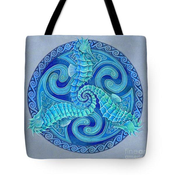 Seahorse Triskele Tote Bag