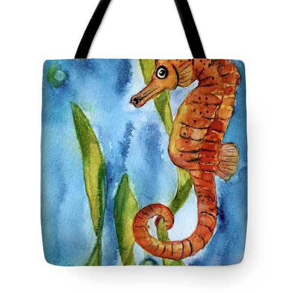 Seahorse With Sea Grass Tote Bag