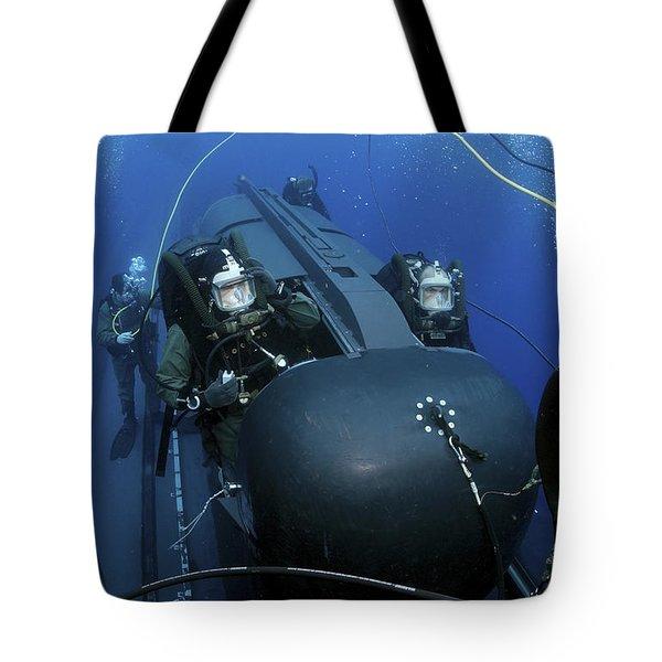 Seal Delivery Vehicle Team Members Tote Bag by Stocktrek Images