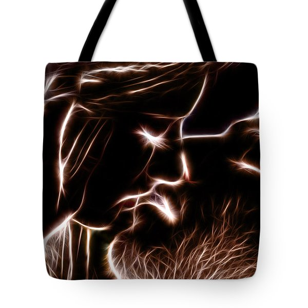Tote Bag featuring the digital art Sealed With A Kiss by Stephen Younts