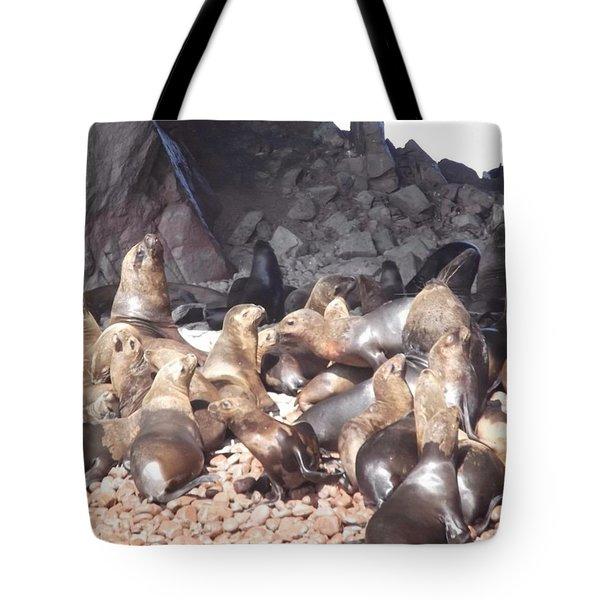 Ballestas Islands' Sealions Tote Bag