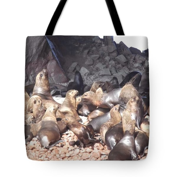 Ballestas Islands' Sealions Tote Bag