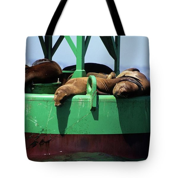 Seals On Channel Marker Tote Bag