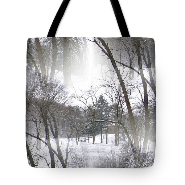 Tote Bag featuring the photograph Seamless Home On The Hill by Skyler Tipton