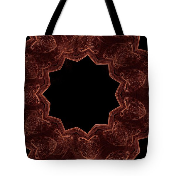 Seamless Kaleidoscope Copper Tote Bag