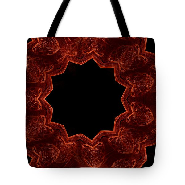 Seamless Kaleidoscope Copper Saturated Tote Bag