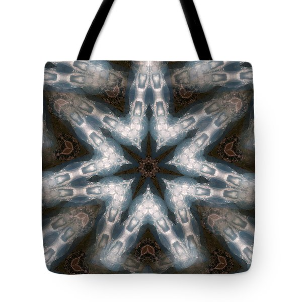Seamless Mountain Star Tote Bag by Ernst Dittmar