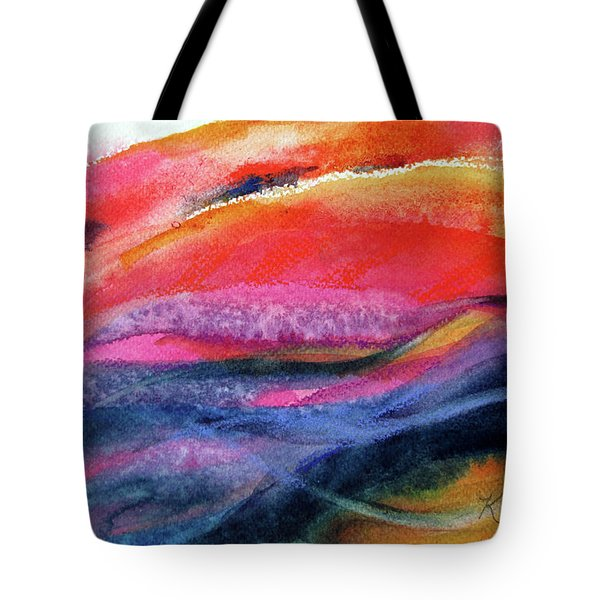 Tote Bag featuring the painting Seams Of Color by Kathy Braud