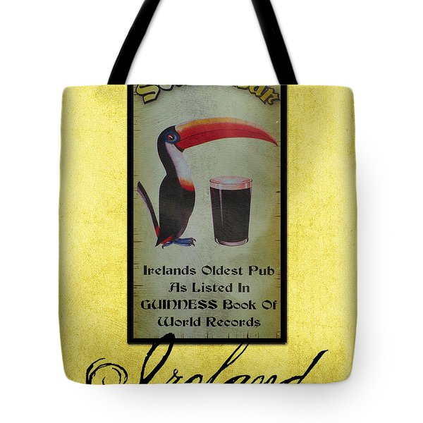 Seans Bar Guinness Pub Sign Athlone Ireland Tote Bag