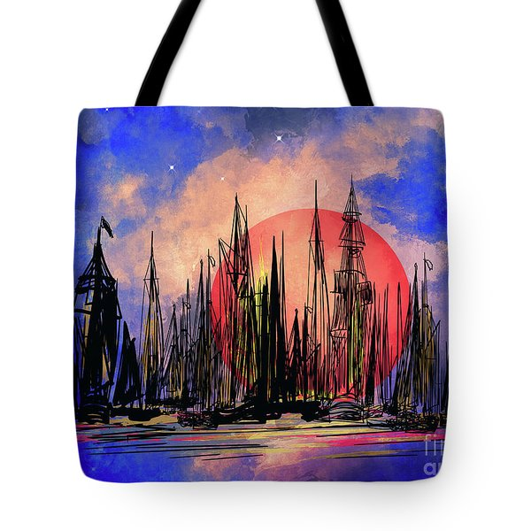 Seaport Tote Bag by Andrzej Szczerski