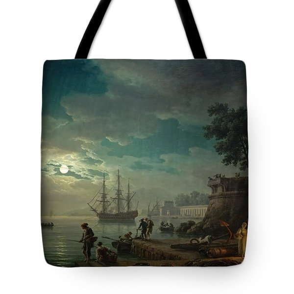 Seaport By Moonlight Tote Bag