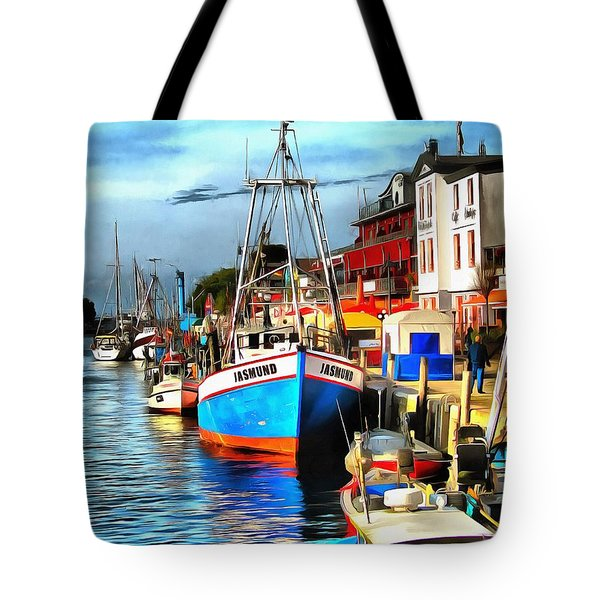 Seaport Warnemuende Tote Bag