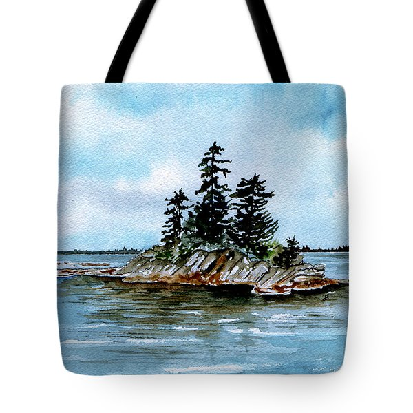 Seascape Casco Bay Maine Tote Bag