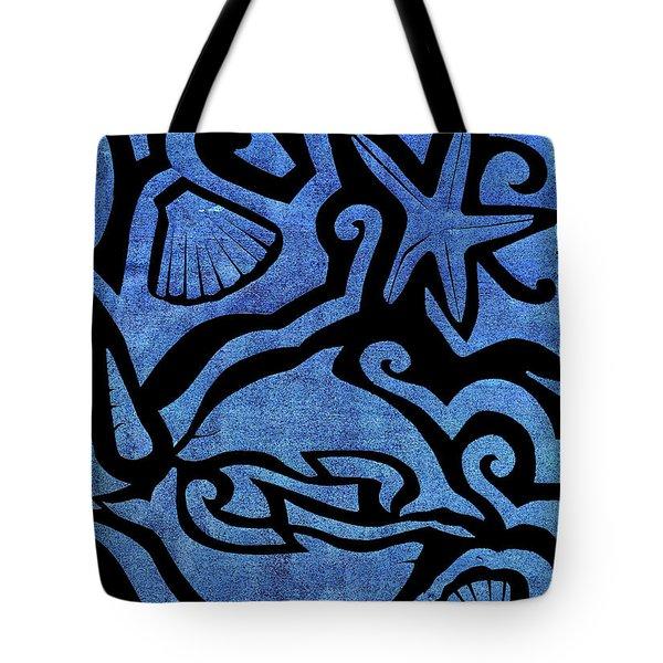 Seascape Cut-out Tote Bag