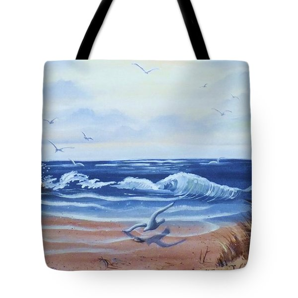 Seascape Tote Bag by Denise Fulmer