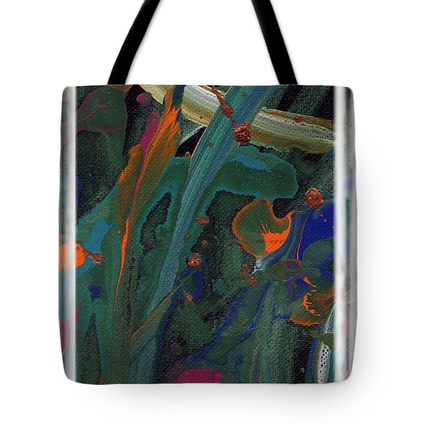 Tote Bag featuring the painting Seascape Enhanced by Angela L Walker