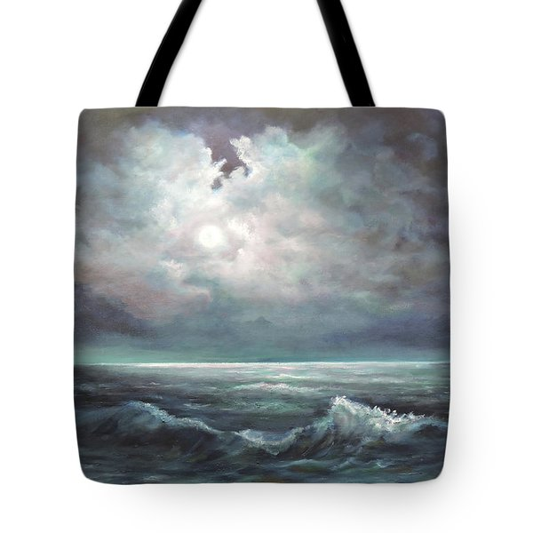 Tote Bag featuring the painting Moonlit  by Luczay