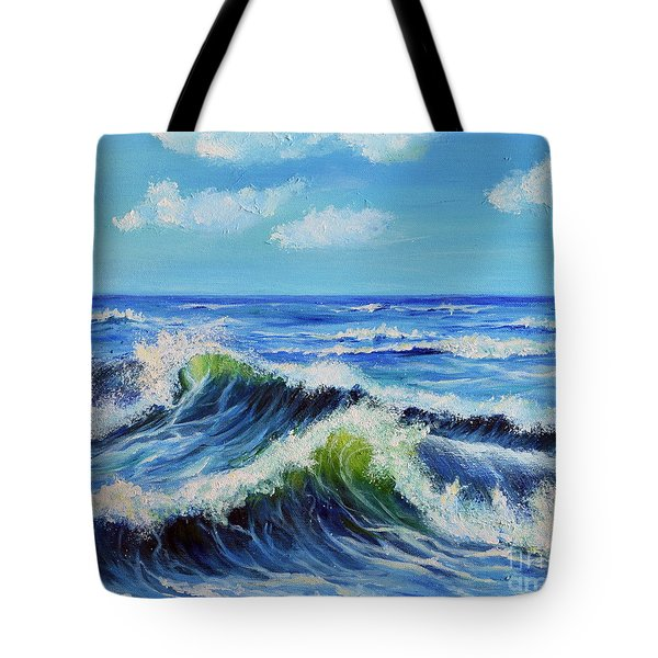 Seascape No.3 Tote Bag by Teresa Wegrzyn