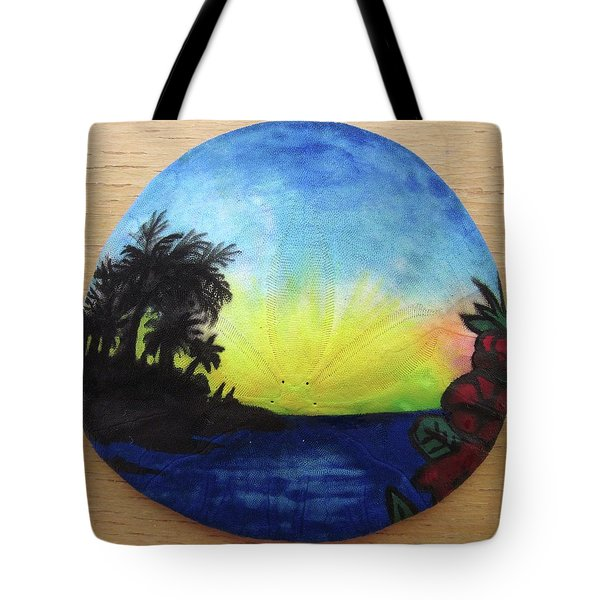 Seascape On A Sand Dollar Tote Bag