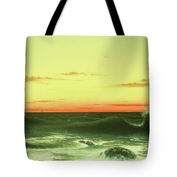 Seascape Sunset 1861 Tote Bag by Martin Johnson Heade