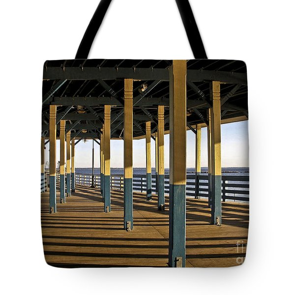 Seascape Walk On The Pier Tote Bag