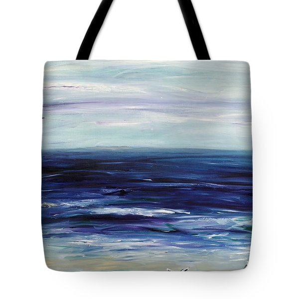 Seascape With White Cats Tote Bag