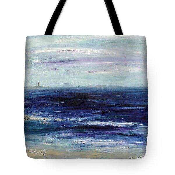 Seascape With White Cats Tote Bag by Regina Valluzzi