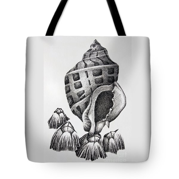 Seashell And Barnacles Tote Bag by James Williamson