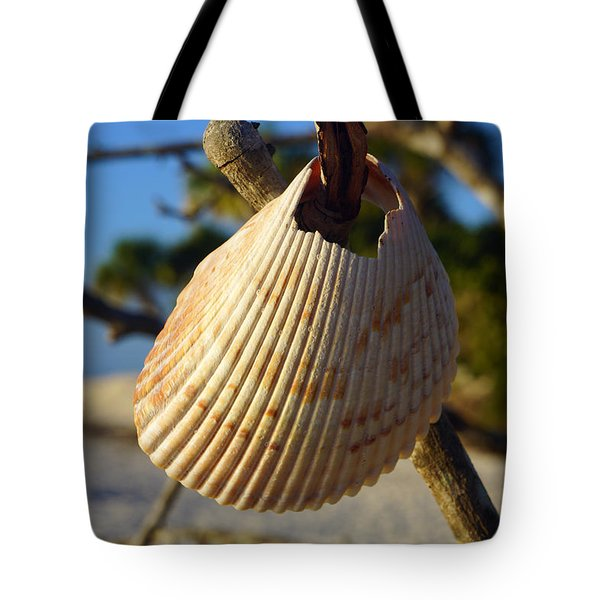 Cockelshell On Tree Branch Tote Bag
