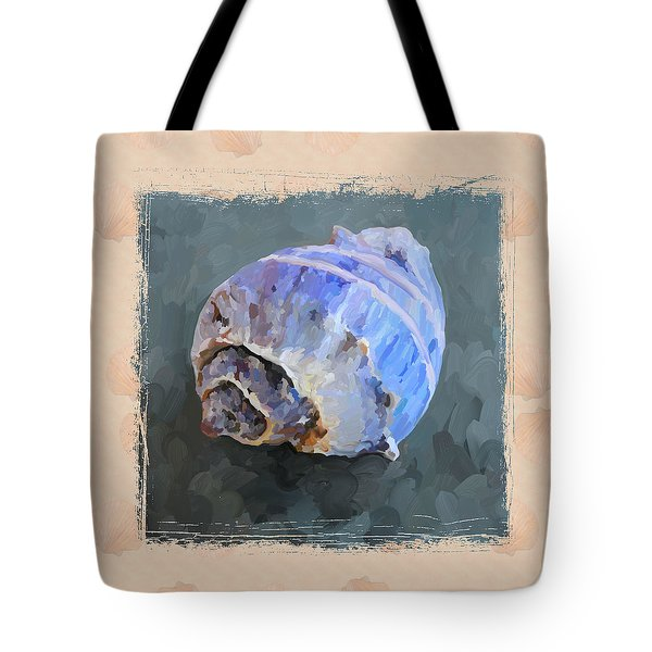 Seashell IIi Grunge With Border Tote Bag by Jai Johnson