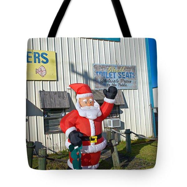 Seashell Seats For Christmas Tote Bag by Allan  Hughes