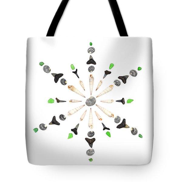 Seashell Snowflake 6 Tote Bag