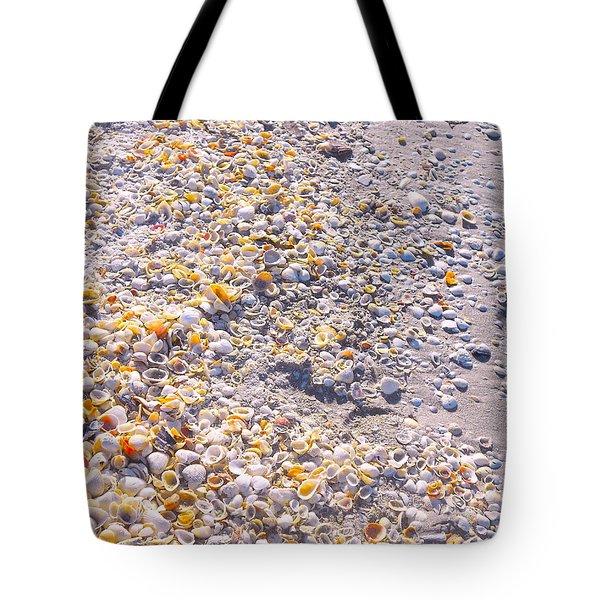 Seashells In Sanibel Island, Florida Tote Bag
