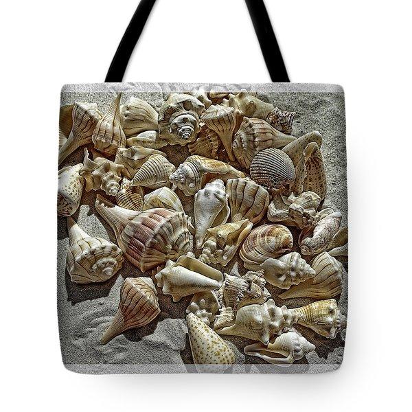 Seashells On The Beach Tote Bag