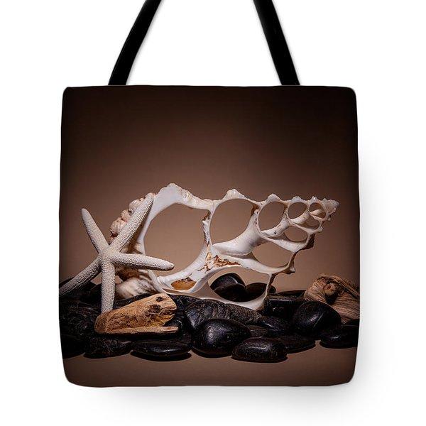 Seashells On The Rocks Tote Bag