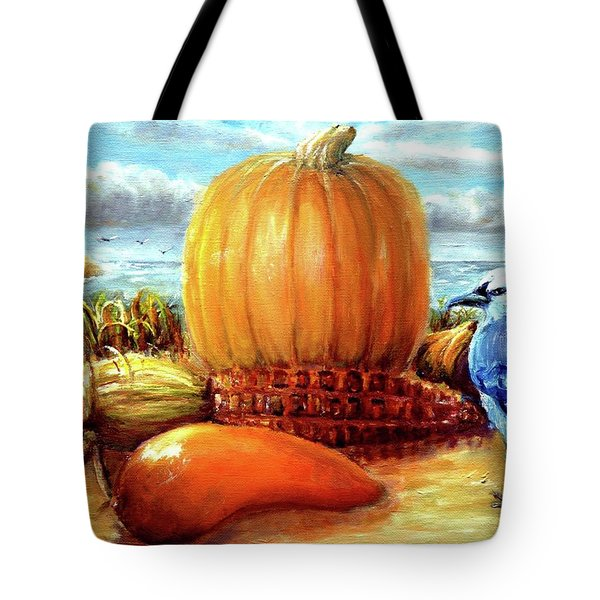 Seashore Pumpkin  Tote Bag
