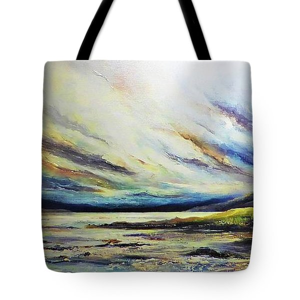 Tote Bag featuring the painting Seaside by AmaS Art