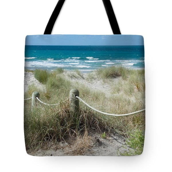 Tote Bag featuring the photograph Seaside Beach Ropes by Jocelyn Friis