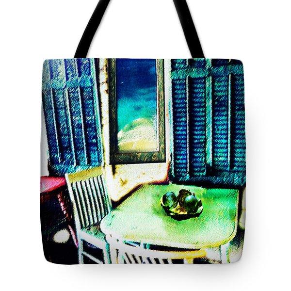 Seaside Cafe Tote Bag